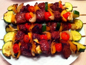 Grilled Sirloin Skewers